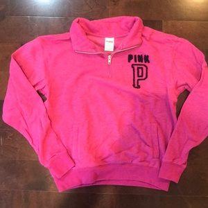 Half-zip Pink sweatshirt